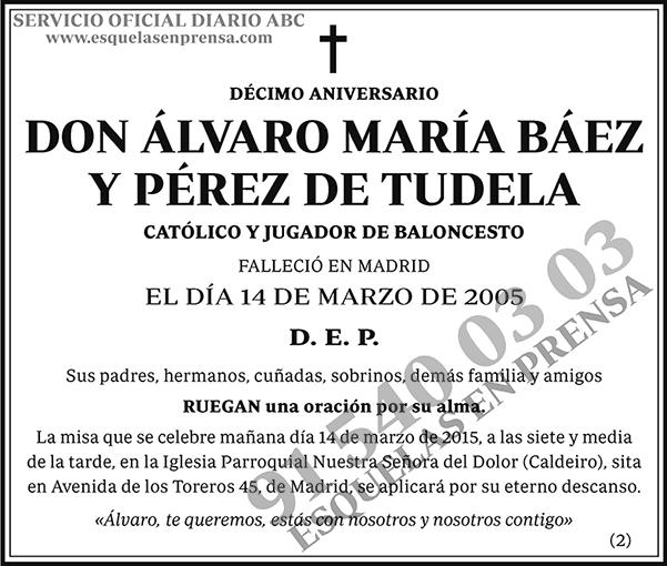 Álvaro María Báez y Pérez de Tudela